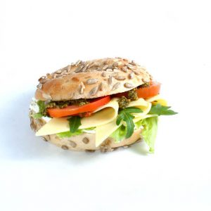 BAGEL-SANDWICH vegetarisch belegt: hier anklicken