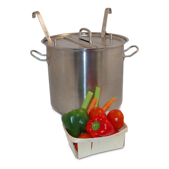 Suppentopf mit 2 Kammern